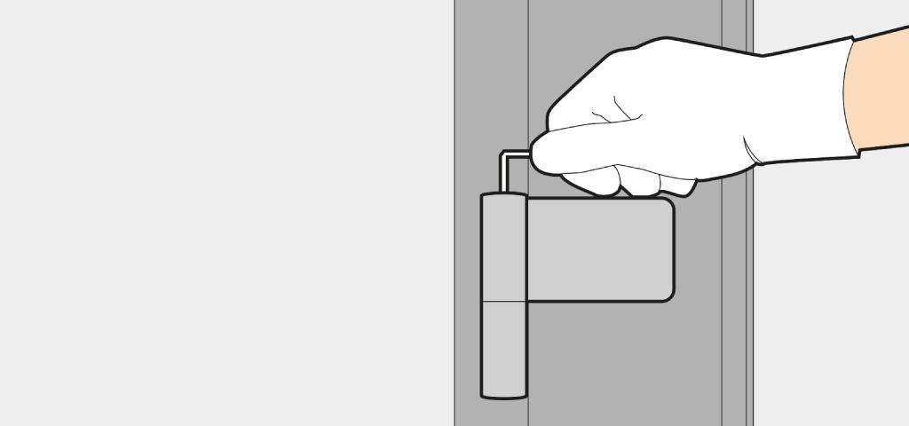 Adjust the contact pressure of a front door