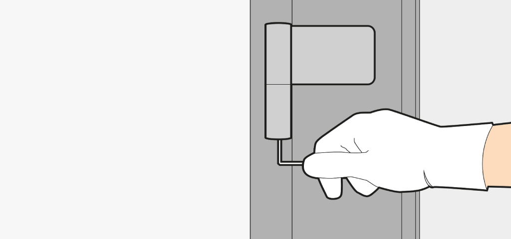 Adjust a front door