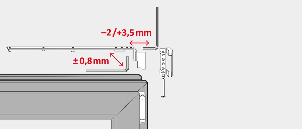 Adjust a patio door laterally