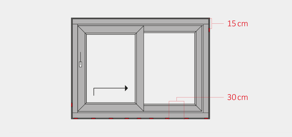 Install a lift & slide door - Insert and align the frame