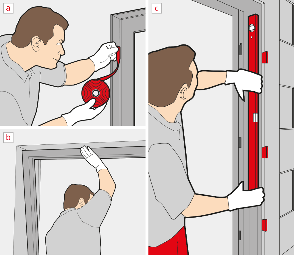 Install a patio door - Insert and align the frame