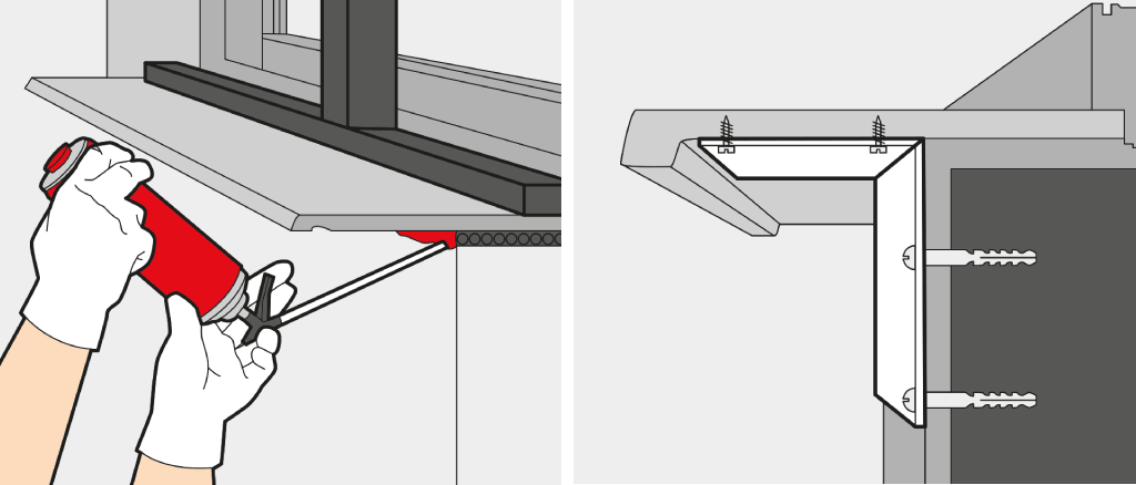 Install an interior window sill