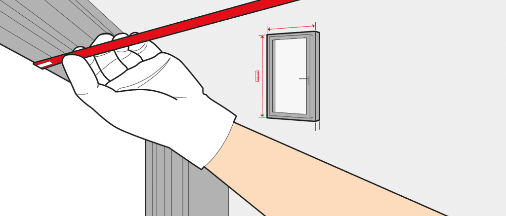 How to measure the size of a French door
