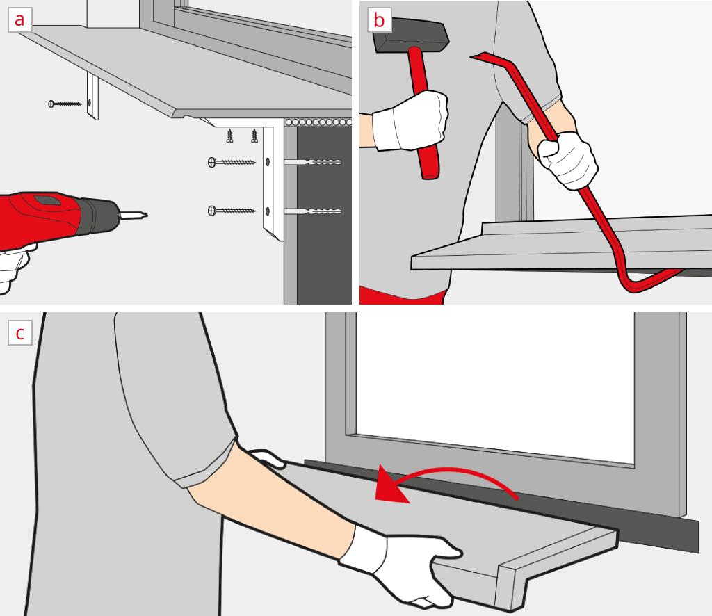 Remove an interior window sill