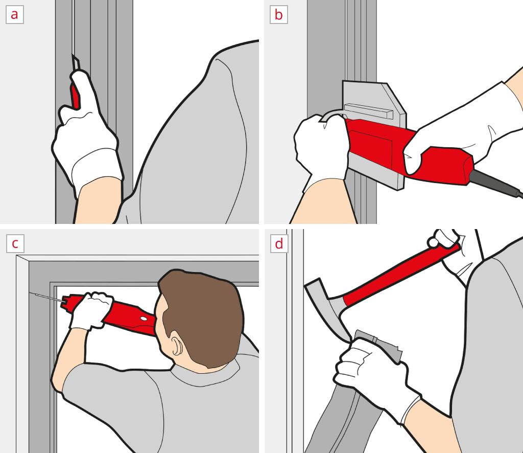 Remove a lift-and-slide door