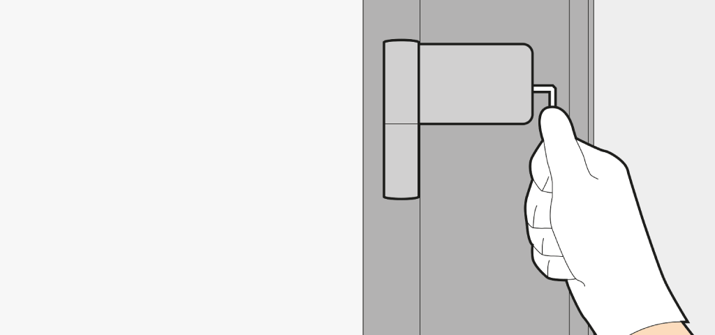 Adjust a front door laterally