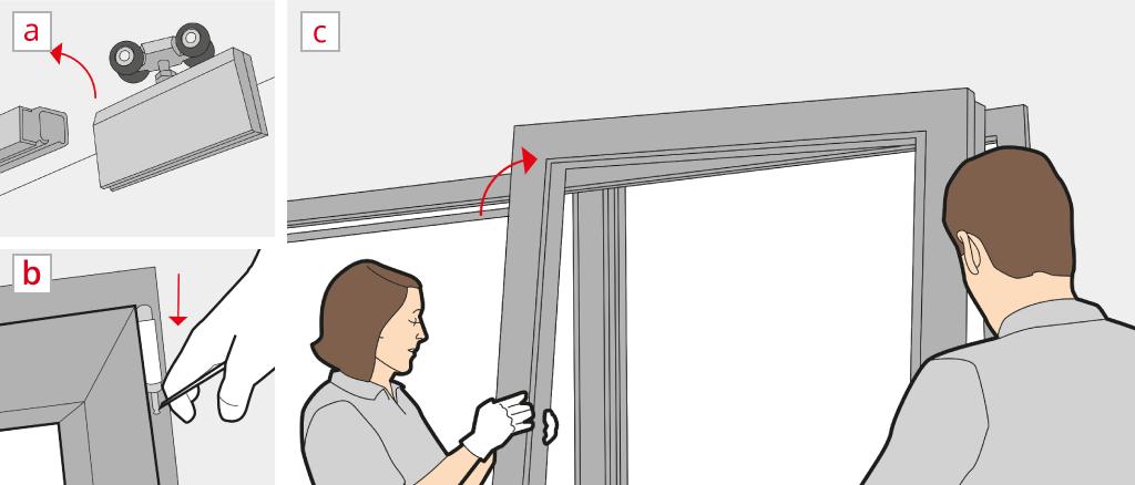 Unhinge a lift-and-slide door