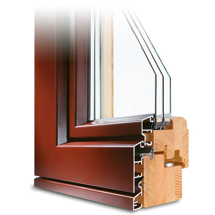 Composite French Door, brown