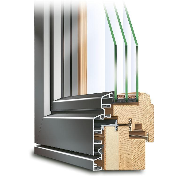Composite french door profile ECO Idealu