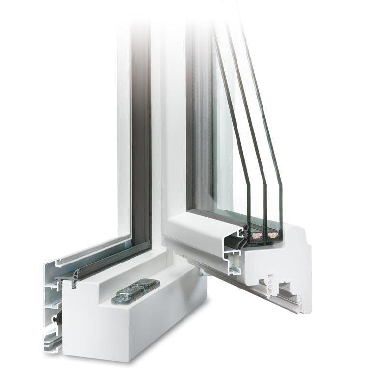 White IDEALU Patio Door - Opened