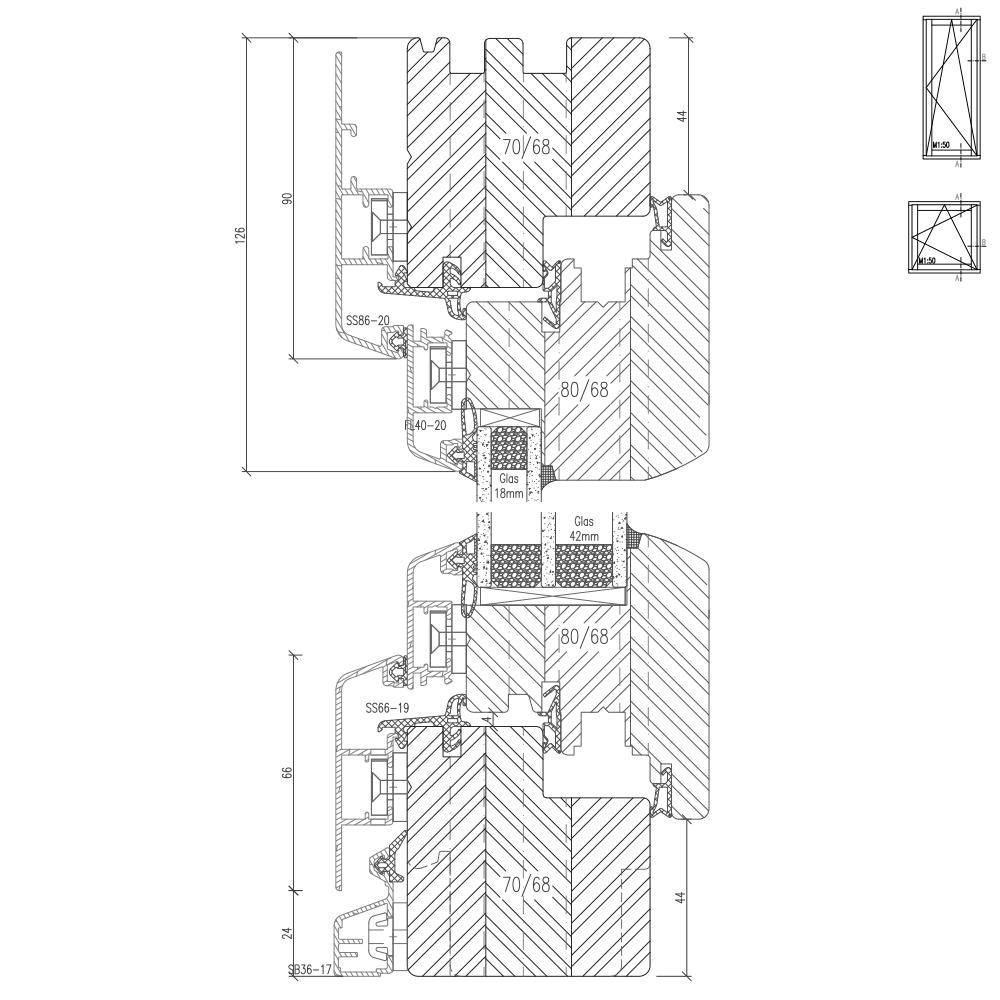Idealu Classicline 68 cross section