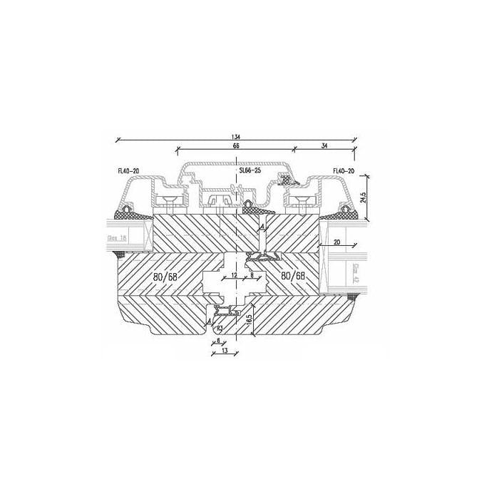 Forend detail of Aluminum Clad Wood patio door