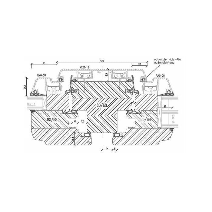 Aluminum Clad Wood window turn-tilt/turn-tilt
