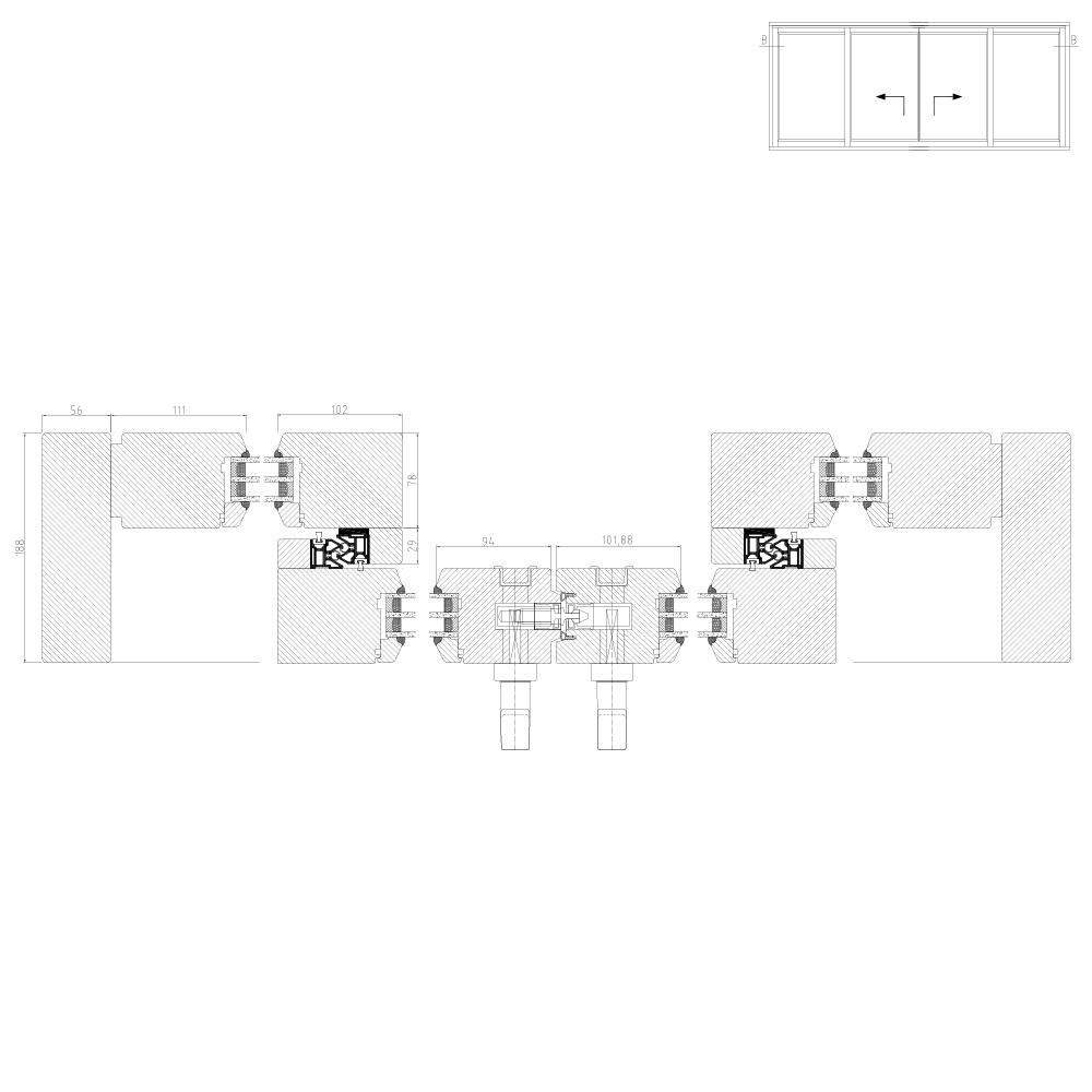 Wood Lift and Slide IV78 Scheme C Cross Section
