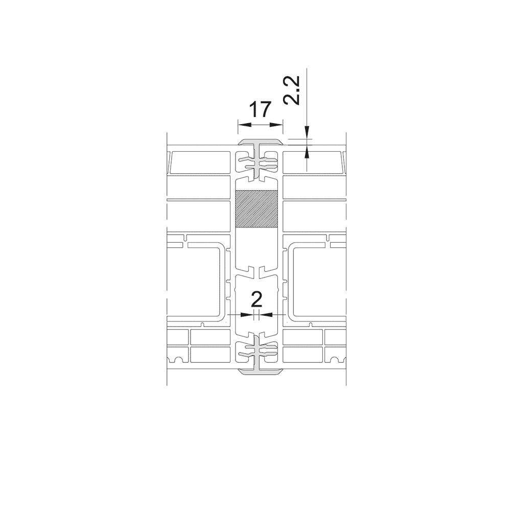 One-piece coupler bar 85mm