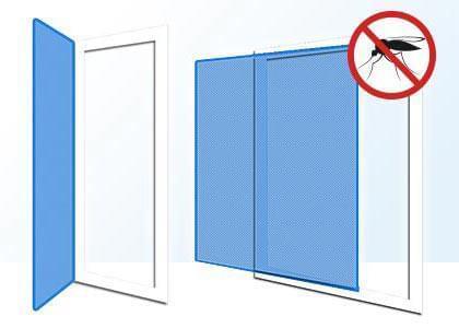 schematic fly screen for doors