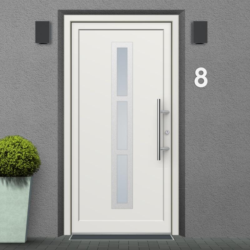 Saskatoon uPVC Exterior Door. Mounting Ex&le. Mounting Ex&le & Saskatoon Model Vinyl uPVC Front Doors | windows24.com