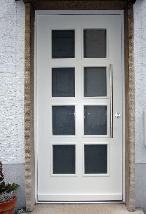 Wooden front door left-hinged