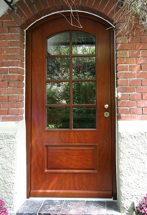 Mahogany wood front door