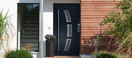 Modern uPVC entrance door