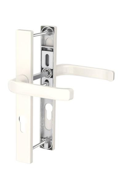 White inside front door push handle