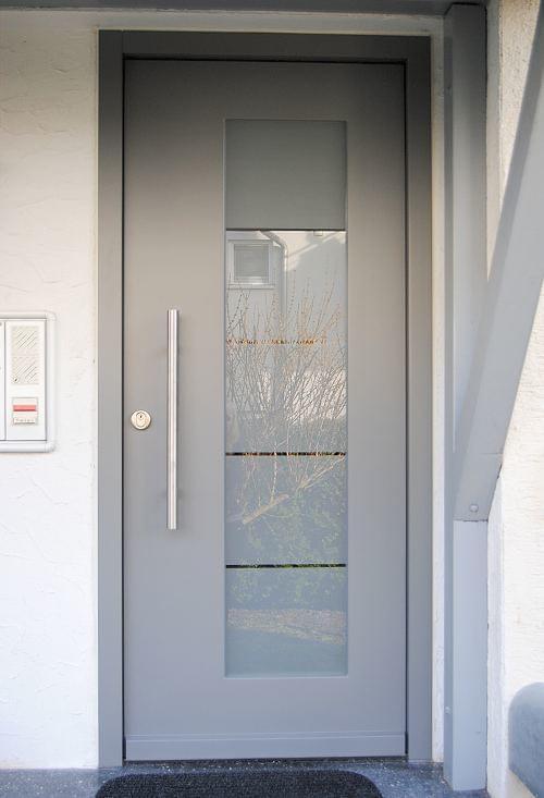 Anthracite grey wooden front door