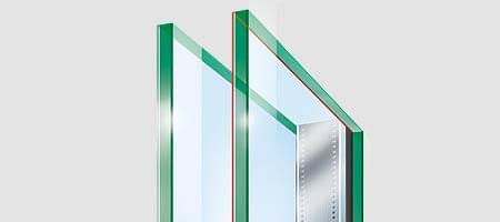 Double glazing for acoustic insulation