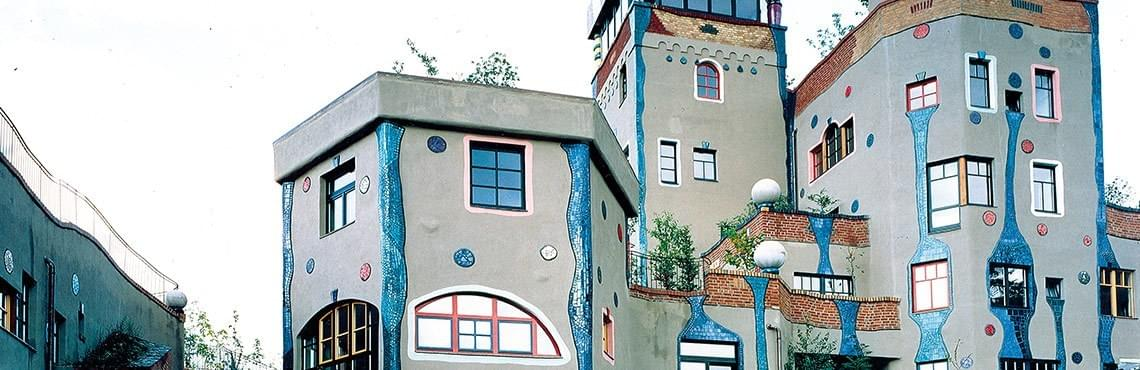 Hundertwasserhaus in Bag Soden, Germany
