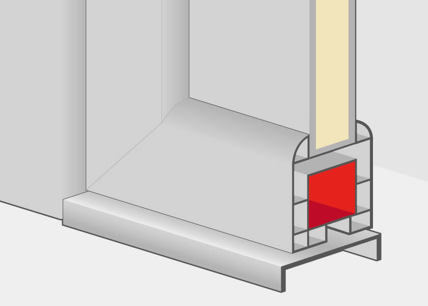 Aluminium front door profiles