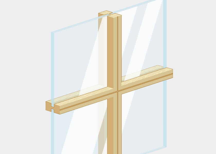 Wood window bars
