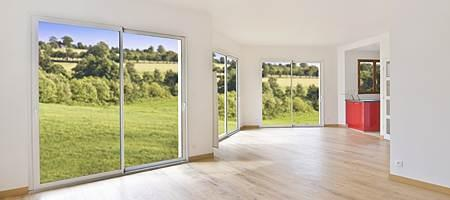 The price of a patio door increases with its size