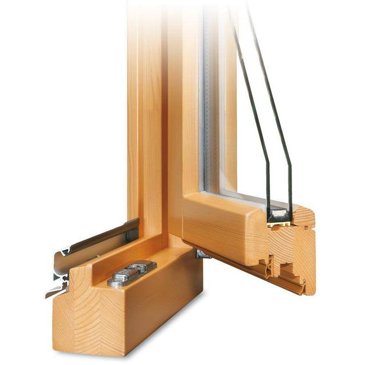 Wooden Patio Door Pine Tree IV 68 - Opened