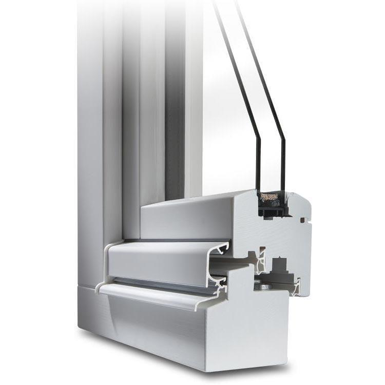 White Wooden Patio Door Profile Classic  IV 68