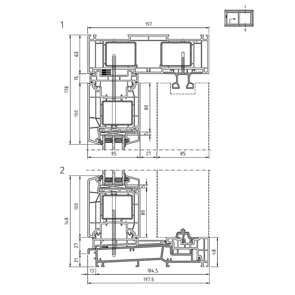 Detailed Drawings Vinyl Sliding Doors Windows24 Com