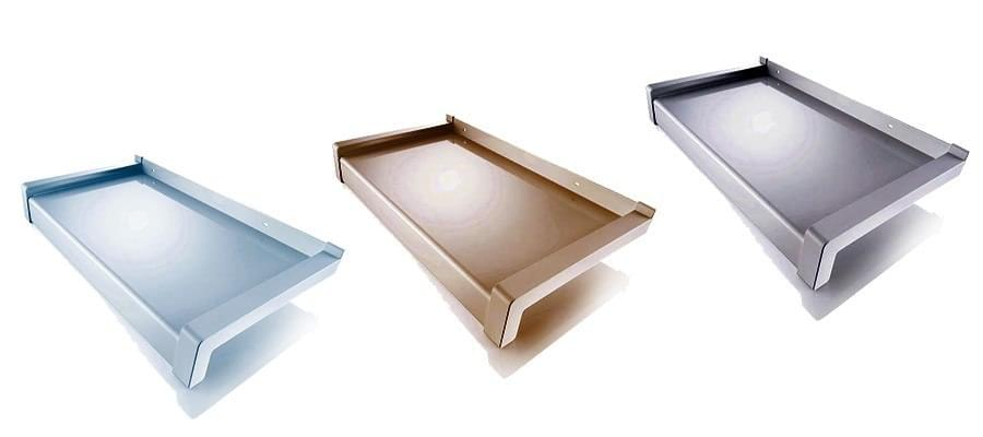 Aluminium outer window sills