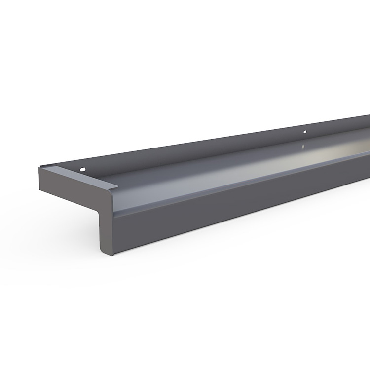 Exterior aluminum window sill