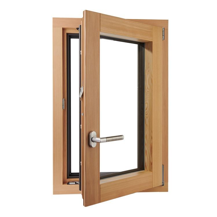 Opened Plano model window in pine