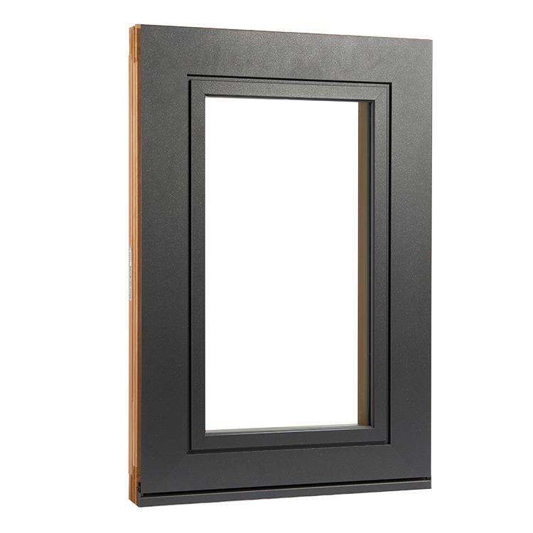 Exterior view of aluclad wood plano window