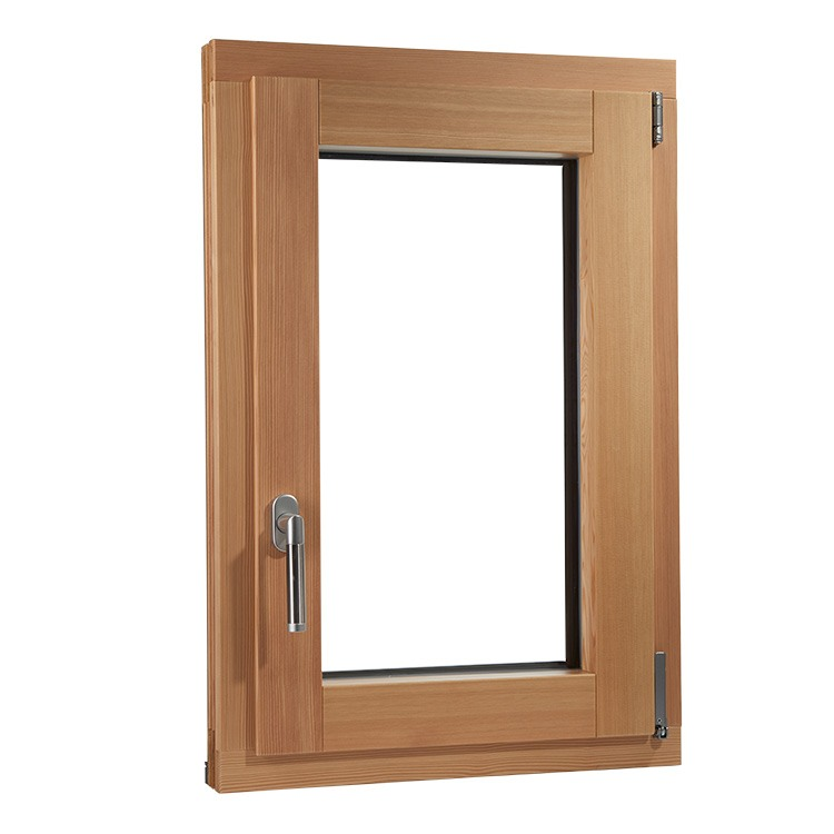 Plano window in aluclad pine wood