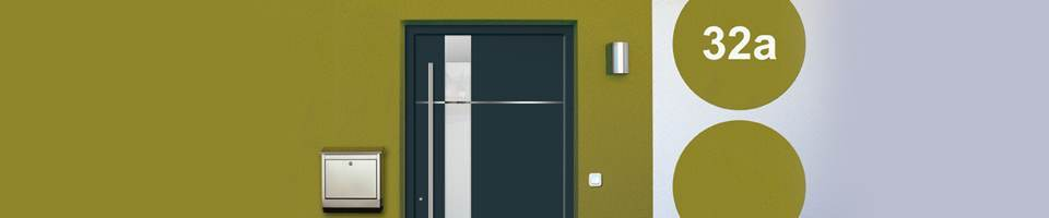 Aluminium entry door design