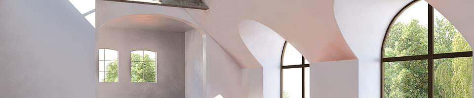 Fixed glazing with arch