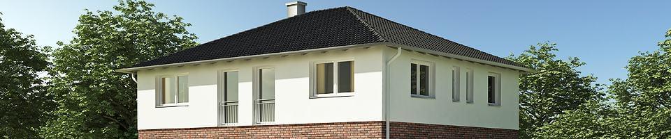 Modern bungalow with casement windows