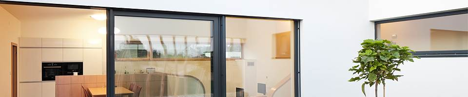 Energy efficient glazing for a french door