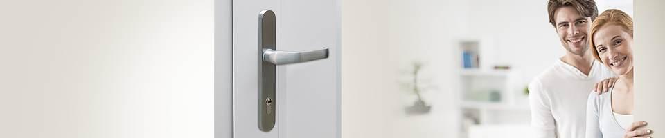 Inside door handle for uPVC front doors