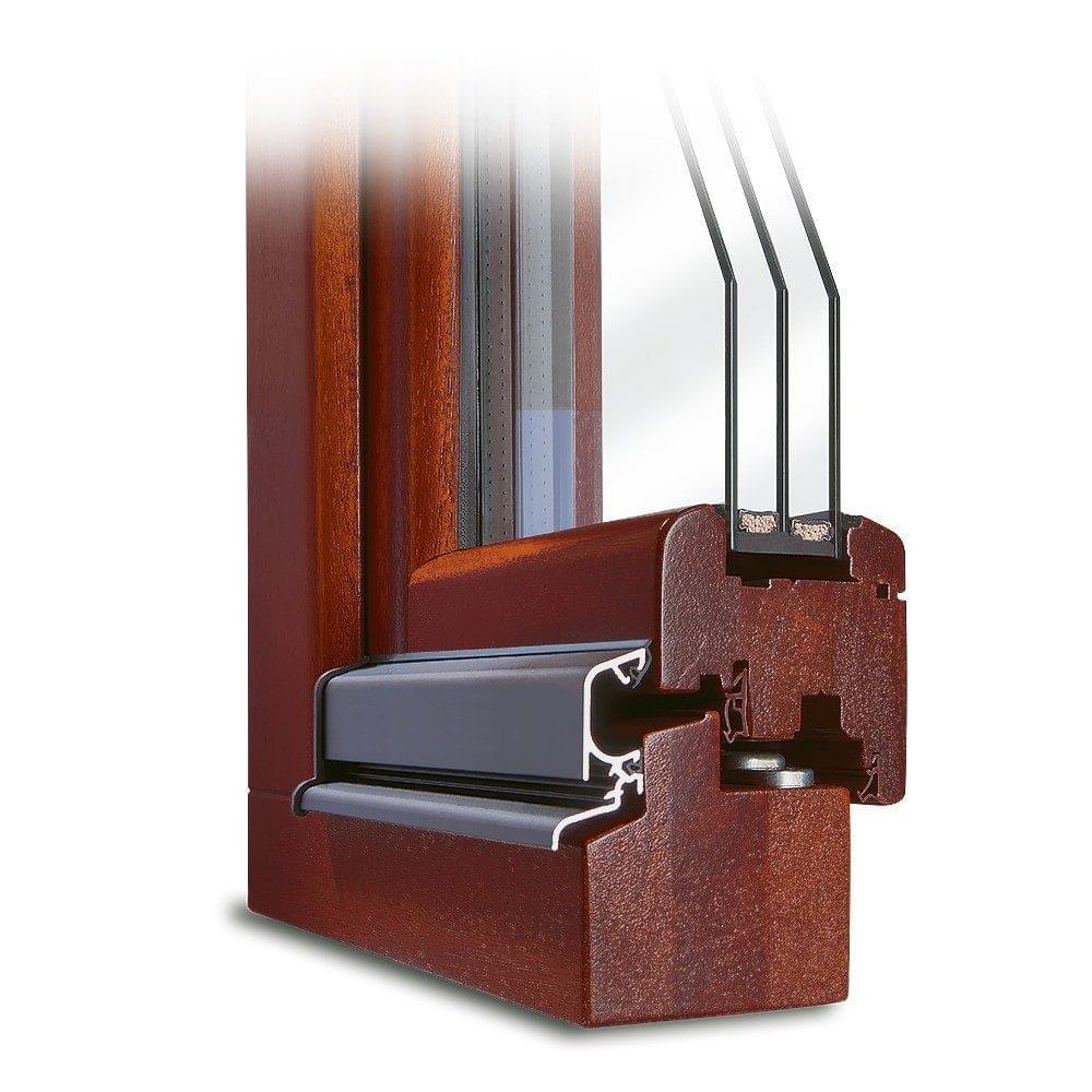 Mahogany Wood window