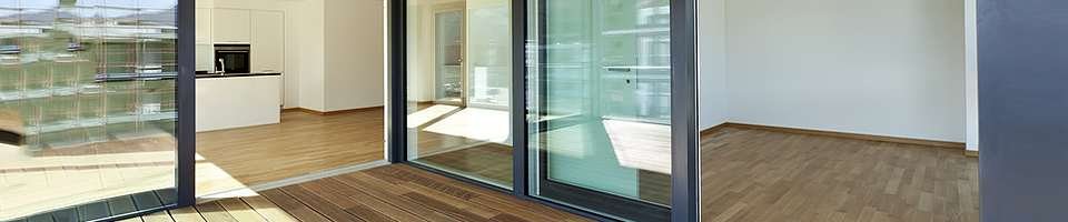 Sliding doors for balconies and terraces
