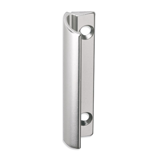 Aluminum balcony door handle in silver