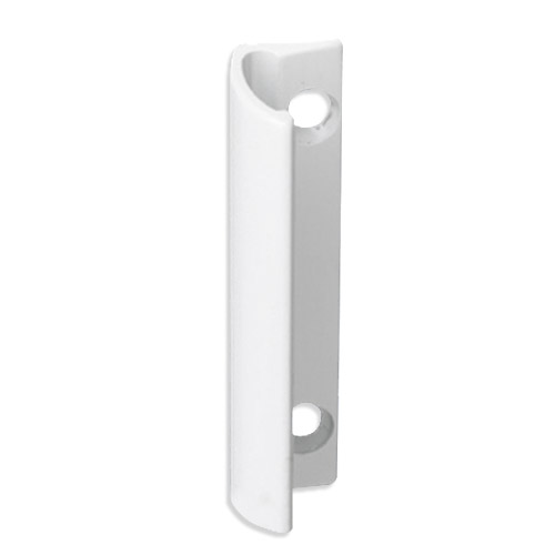 Aluminum balcony door handle in white