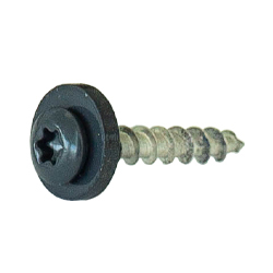 Mounting screws for exterior window sills, anthracite gray